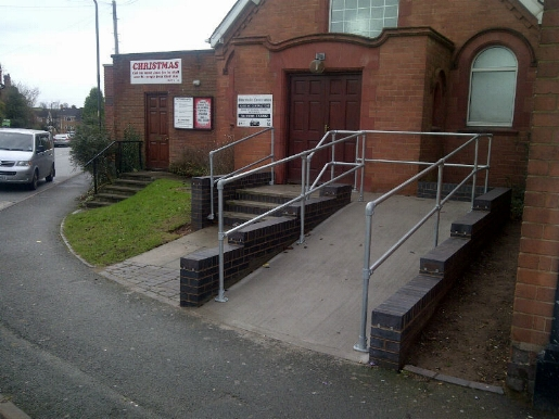 Disabled ramp completed.